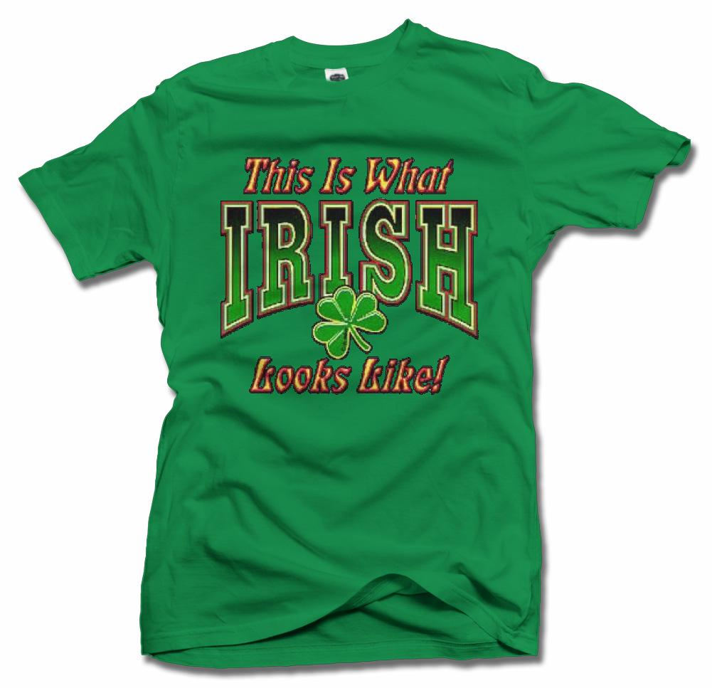 THIS IS WHAT IRISH LOOKS LIKE CLOVER T-SHIRT Model