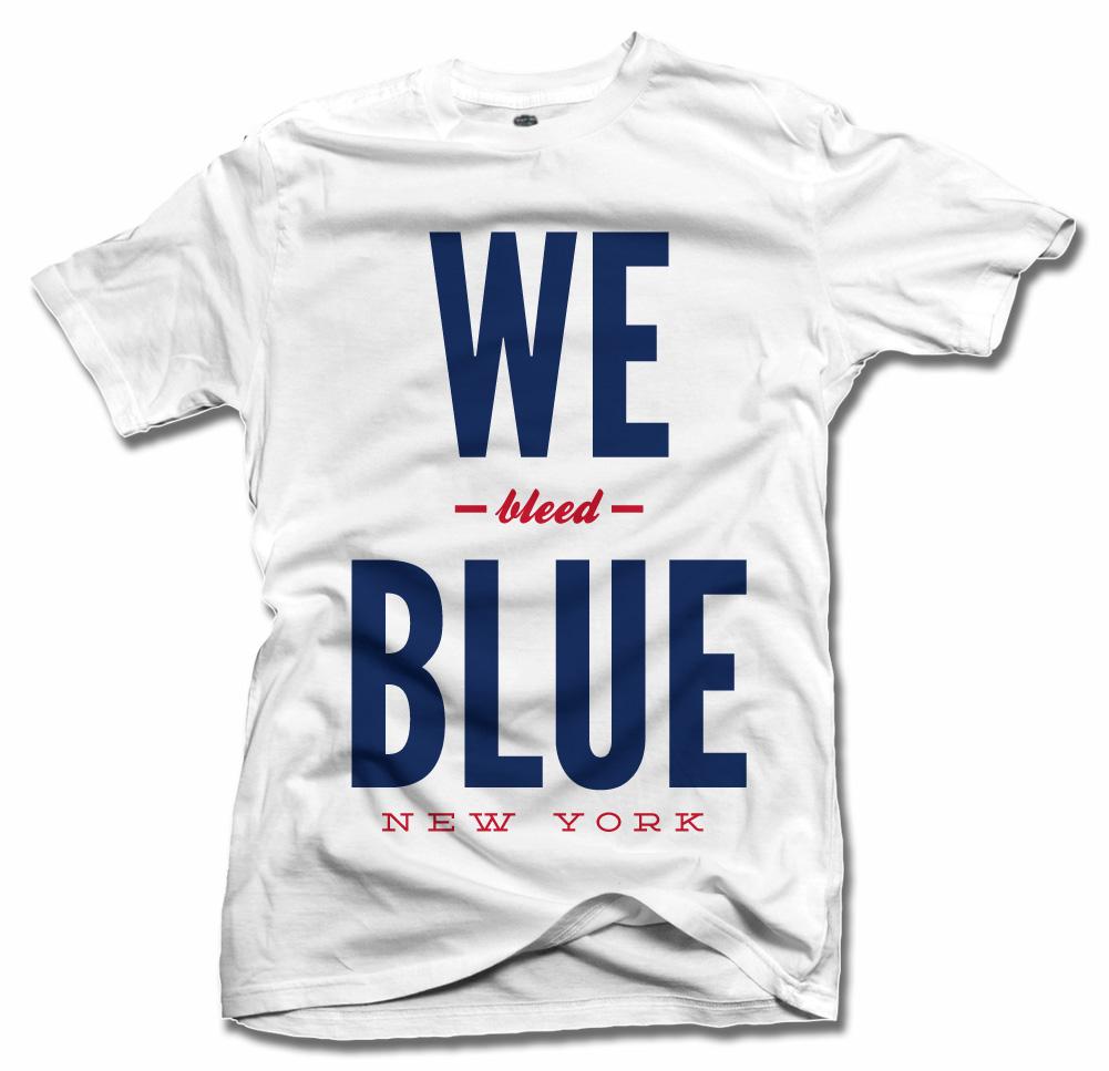 WE BLEED BLUE NEW YORK FOOTBALL Model