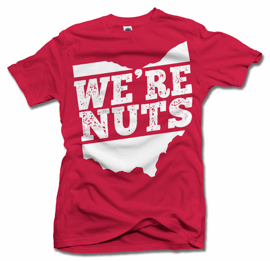 WE'RE NUTS OHIO T-SHIRT Model