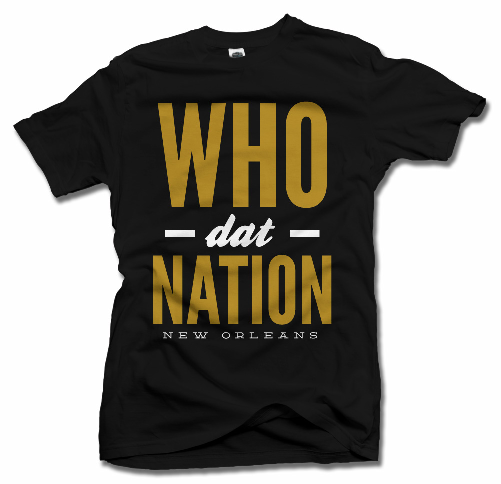 WHO DAT NATION NEW ORLEANS FOOTBALL Model