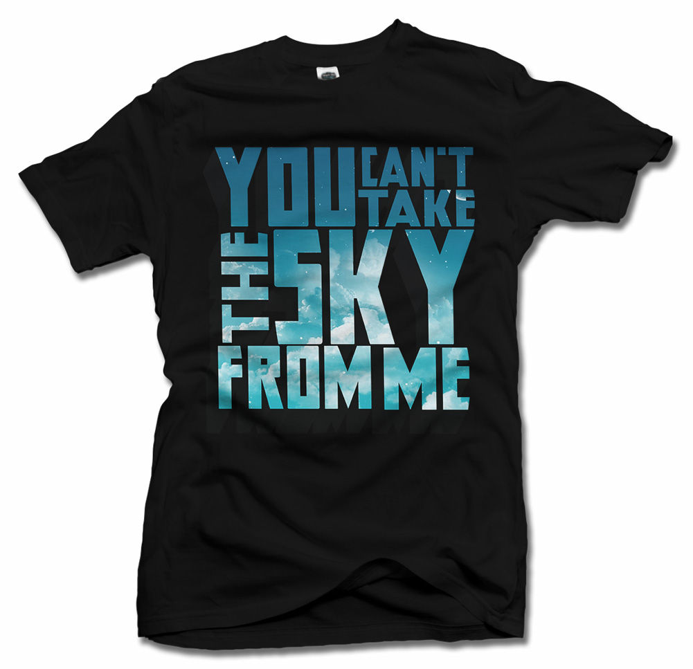 YOU CAN'T TAKE THE SKY FROM ME FIREFLY T-SHIRT Model