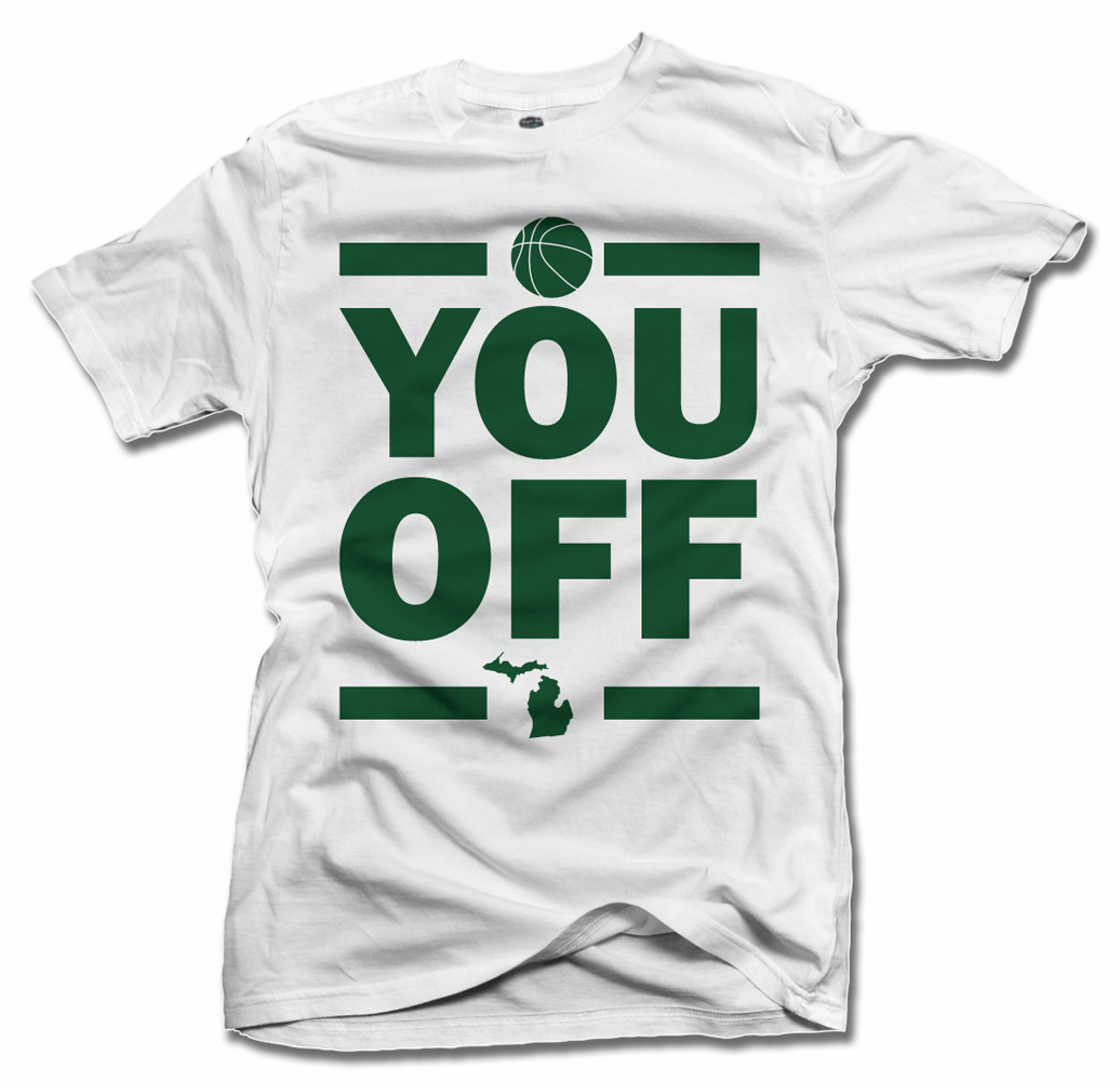 YOU OFF FUNNY SPARTANS T-SHIRT Model