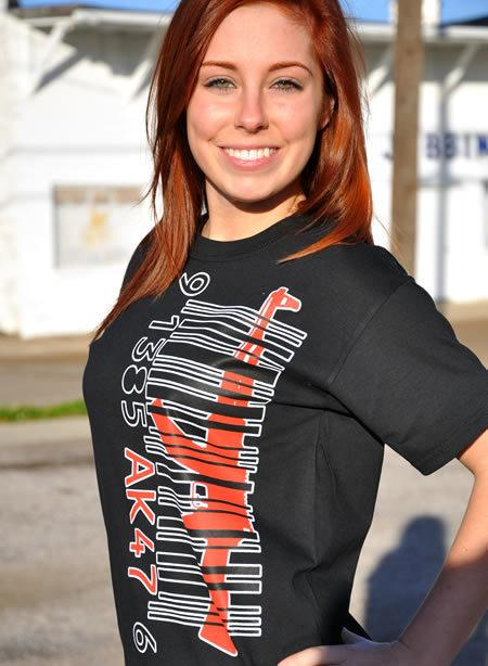 AK-47 BARCODE GUN T-SHIRT Model