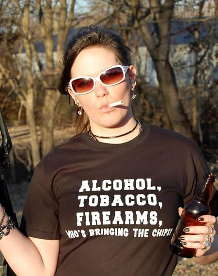 ALCOHOL, TOBACCO, FIREARMS, WHO'S BRINGING THE CHIPS? Model
