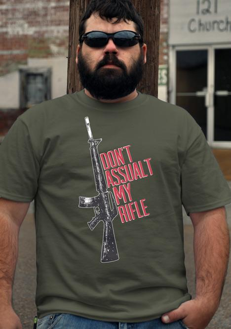 DON'T ASSAULT MY RIFLE AR-15 Model