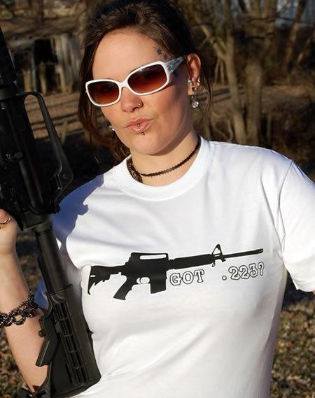 GOT .223? GUN T-SHIRT Model