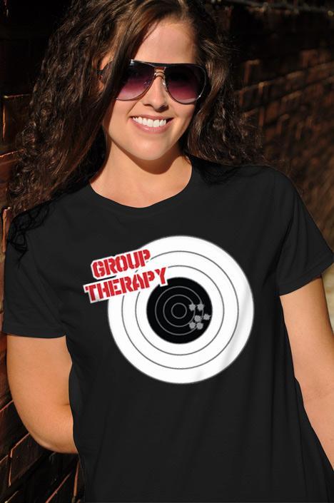 GROUP THERAPY GUN T-SHIRT Model