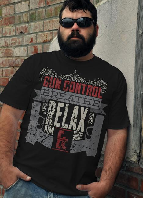 GUN CONTROL BREATHE, RELAX, AIM, SIGHT, AND SQUEEZE Model