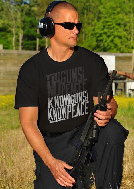 NO GUNS NO PEACE KNOW GUNS KNOW PEACE Model