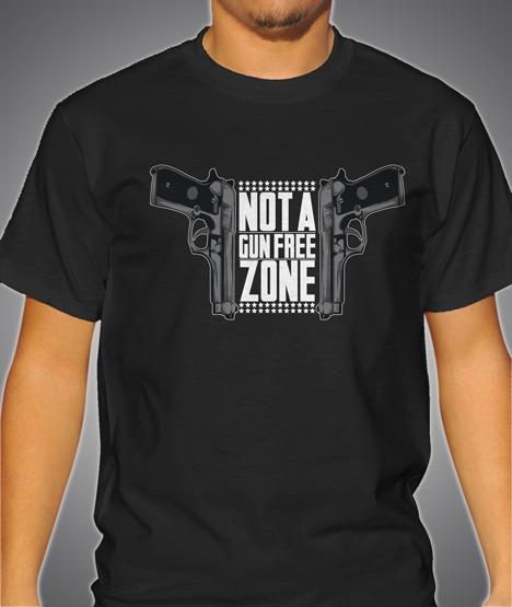 NOT A GUN FREE ZONE DOUBLE GUNS Model