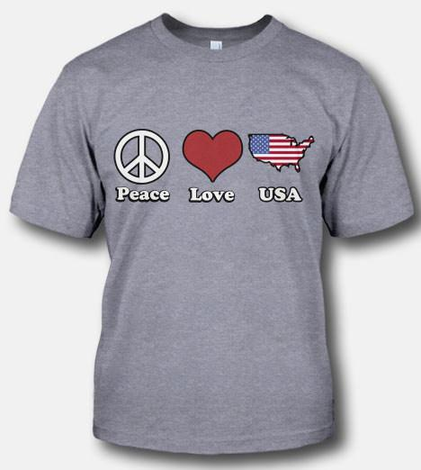 PEACE LOVE AND USA Model