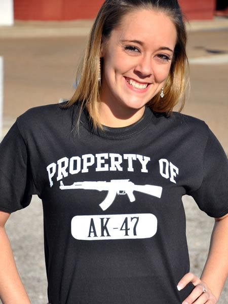 PROPERTY OF AK-47 GUN T-SHIRT Model