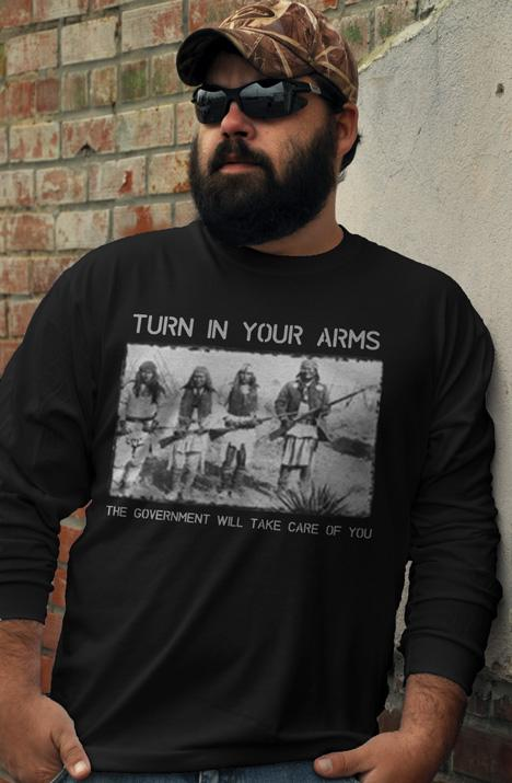 TURN IN YOUR ARMS THE GOVERNMENT WILL TAKE CARE OF YOU Model