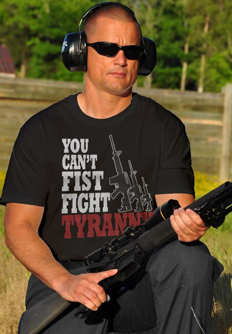 YOU CAN'T FIST FIGHT TYRANNY AR-15 Model